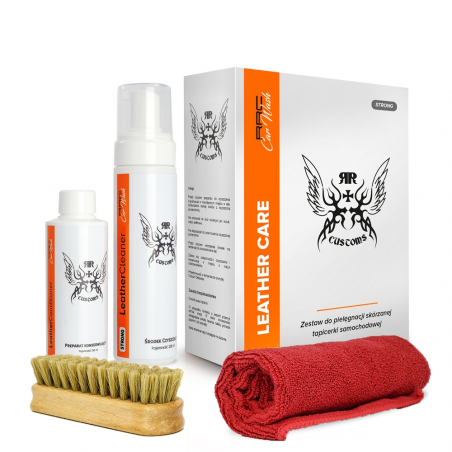 Zestaw RRC Car Wash LEATHER CLEANER SOFT BOX do czyszczenia skór