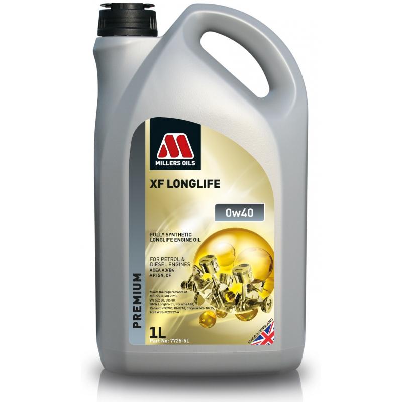 SYNTETYCZNY OLEJ SILNIKOWY MILLERS OILS XF LONGLIFE 0W40 5L