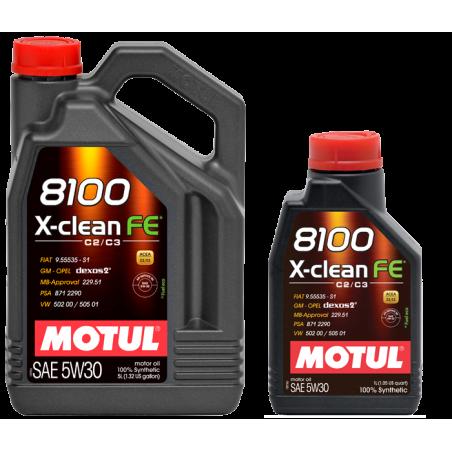 MOTUL X- CLEAN FE 8100 5W30 DEXOS 2 5L