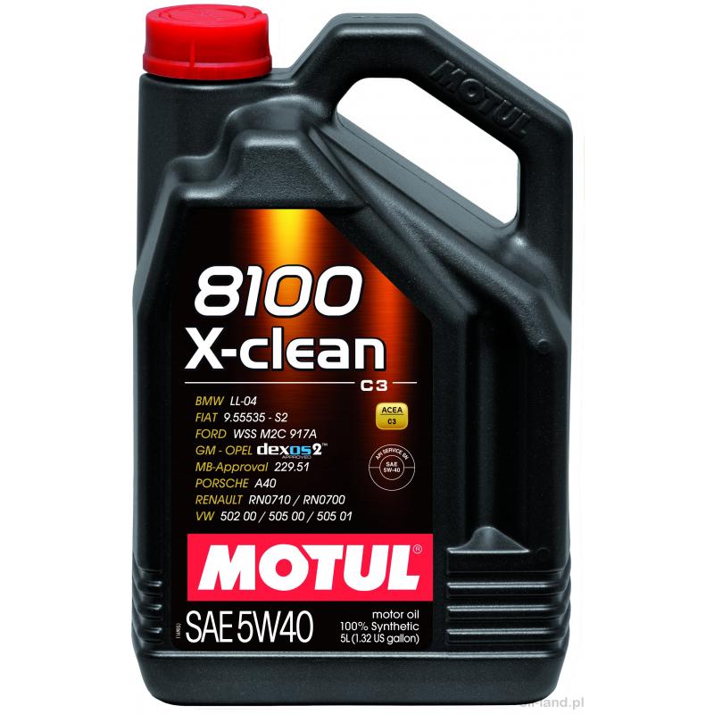 MOTUL X-CLEAN 5W40  DEXOS 2 5L