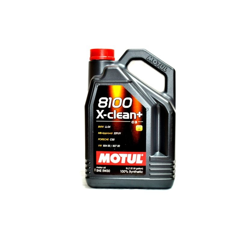 MOTUL 8100 X-CLEAN+ C3 5W30 VW 504/507 5L