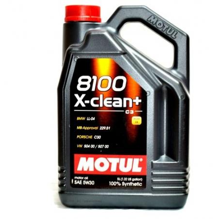MOTUL 8100 X-CLEAN+ C3 5W30 VW 504/507 5L