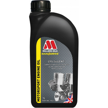 MILLERS OILS MOTORSPORT CFS 5W40 NT+ 1L NANODRIVE+