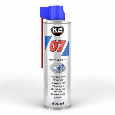 K2 07 - produkt wielozadaniowy, likwiduje piski, smaruje