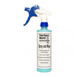 Poorboy's World Spray & Wipe+Sprayer - detailer 473 ML