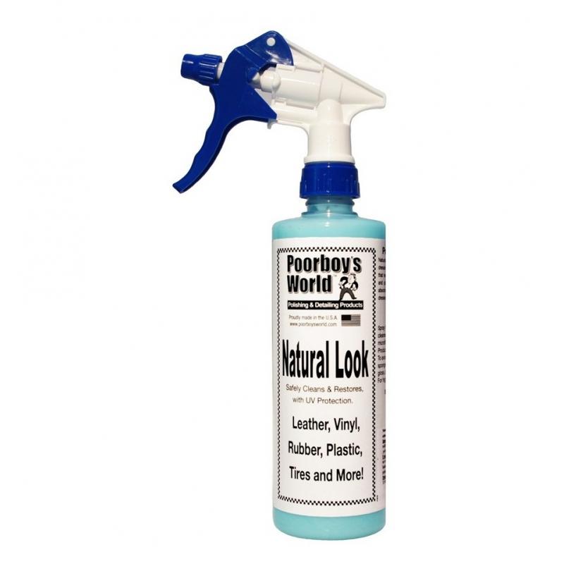 Poorboy's World Natural Look+Sprayer - środek do czyszczenia tworzyw i plastików 473 ML