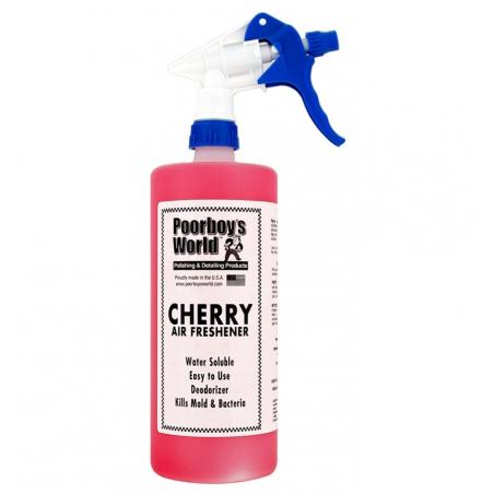 Poorboy's World Air Freshener Cherry+Sprayer - odświeżacz powietrza o zapachu wiśnii 473 ML