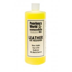 Poorboy's World Air Freshener Leather - odświeżacz powietrza o zapachu nowej skórzanej tapicerki 964 ML
