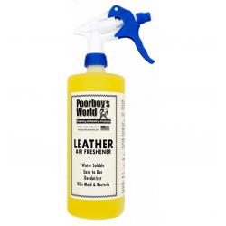 Poorboy's World Air Freshener Leather+Sprayer - odświeżacz powietrza o zapachu nowej skórzanej tapicerki 473 ML