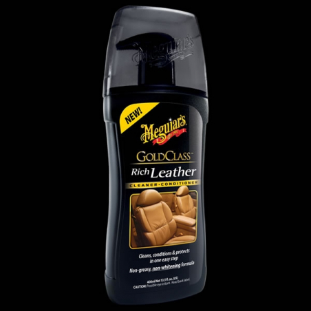 Meguiar's Gold Class Rich Leather Cleaner & Conditioner - Środek do czyszczenia i pielęgnacji skóry (414 ml)