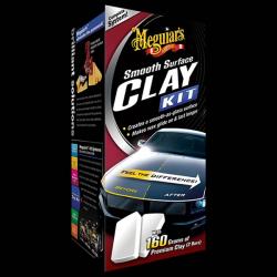 Meguiar's Smooth Surface Clay Kit - Zestaw do czyszczenia i pielęgnacji lakieru (473ml + glinka 2 x 80gl)
