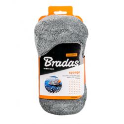 Gąbka z mikrowłokien do mycia z siatką Bradas